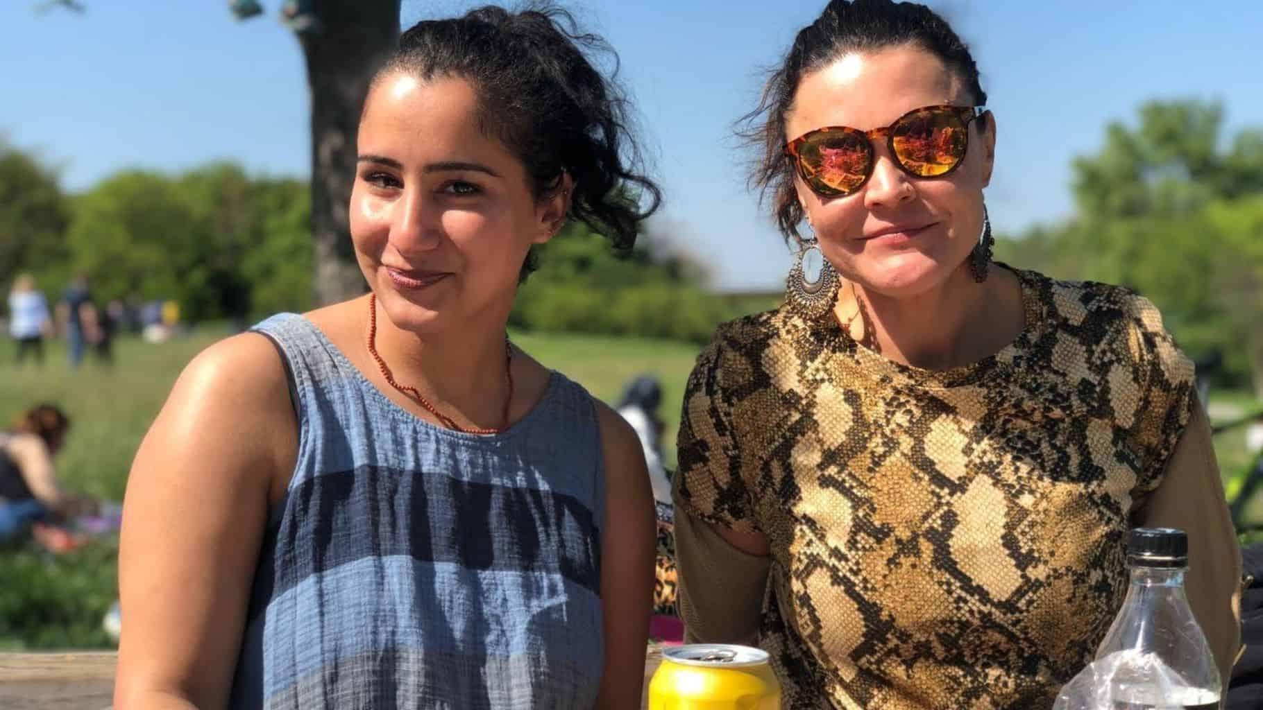 Freunde Grillage auf der Donauinsel