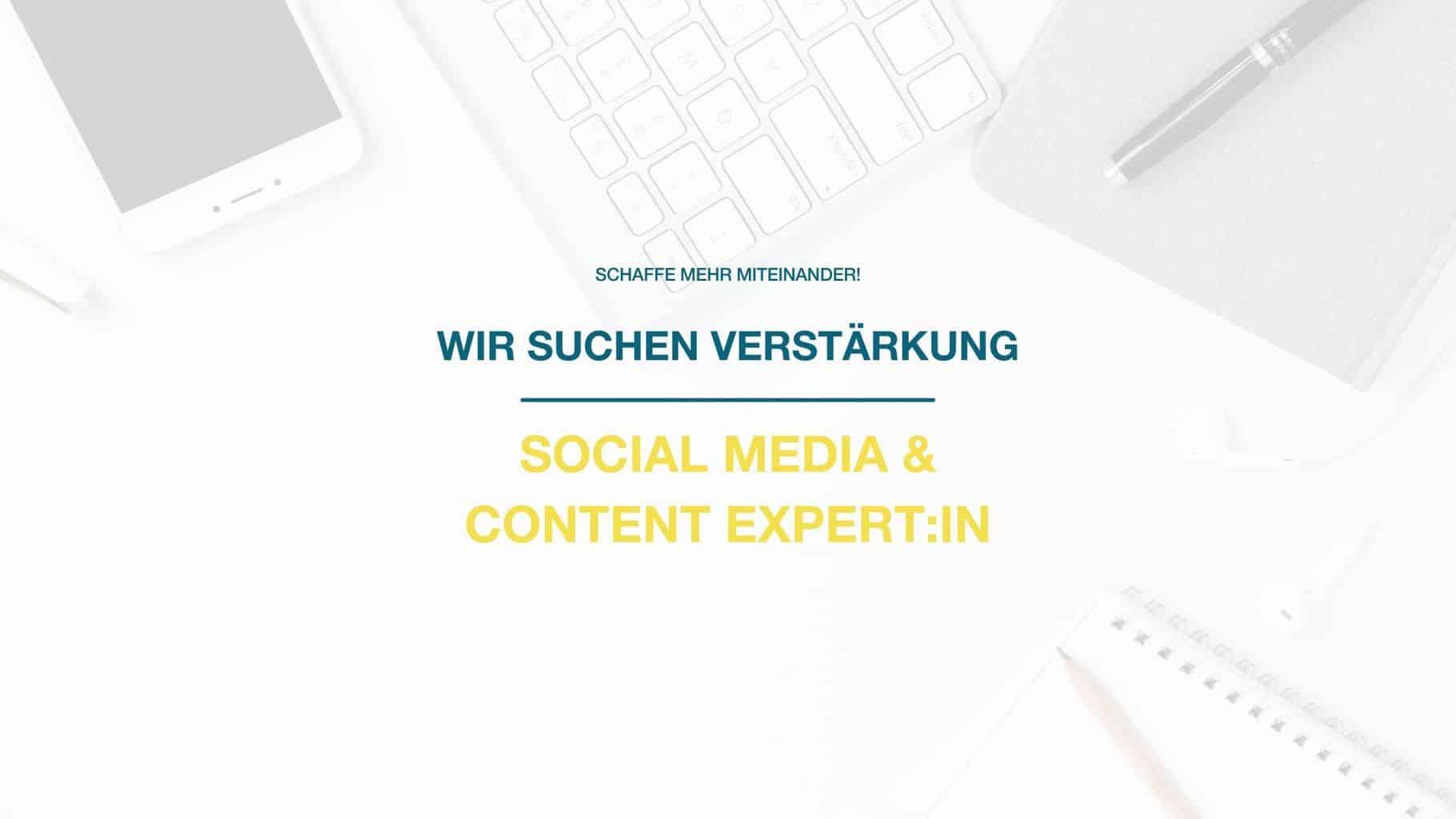 Job: Social Media & Content Expert:in