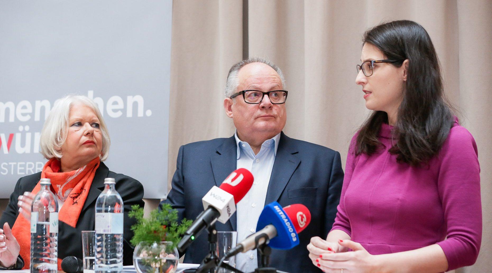 Pressekonferenz Menschenwürde Österreich